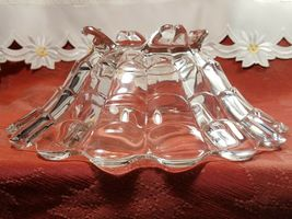 """VINTAGE  American Four Footed Glass Bowl w Flared Top Edge 10""""x4"""" image 10"""