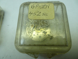 VINTAGE GRUEN CAL 452SS WATCH MOVEMENT IN PARTS FOR RESTORATIONS MISSING... - $87.32