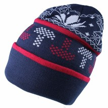 LRG Lifted Research Group Navy Mushroom Weed Alpine Devine Beanie Winter Hat NWT
