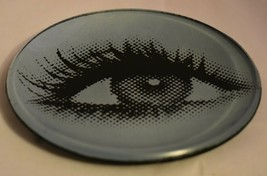 Digital Eye Saucer glass with Black felt Backing 5 1.2 inch Diameter The... - $11.87