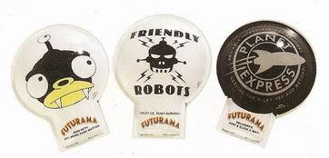 Futurama Nibbler, Planet Express, Robots 3 clickers