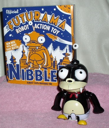 Futurama Nibbler Tin Wind up Robot Hard to find