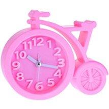Nostalgia Noiseless Alarm Clock Kids' Birthday Gift Student Clock Pink - $14.54