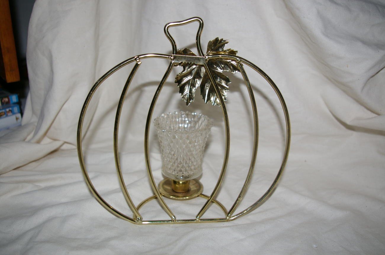 Home interior pumpkin candle holder centerpiece homco other