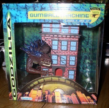 GODZILLA Gum Ball Machine bank rare