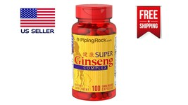 Super Ginseng Complex Plus Royal Jelly Energy 100 Capsules Dietary Suppl... - $14.30