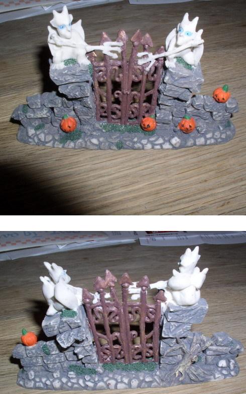 Halloween Ghost House Gargoyles Gate Decoration