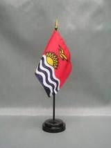 "Kiribati 4X6"" Table Top Flag W/ Base New Desk Top Handheld Stick Flag - $4.95"