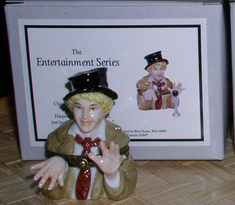 Harpo from the Marx Brothers Porcelain Hinged Box