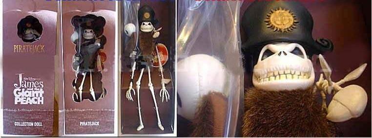 James and Giant Peach Jack Skellington Priate Doll