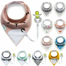 Baby Cotton Bandana Bibs Kids Bib Scarf Boy Girl Multifunction Absorbent... - $6.97+