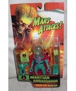 Mars Attacks  Martian red cape Action Ambassador Figurine orange card  MOC - $29.02