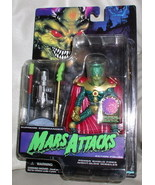 Mars Supreme Commander Attacks Green Martian blue card Action Figurine - $24.18