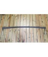 "6ft 72"" Antique 2 Man Wide Blade Crosscut Saw Logging Lumberjack w/Wood ... - $178.19"