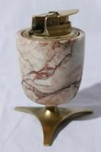 Vintage Ronson Varaflame Valiant Butane Marble & Brass Table Lighter (Fu... - $86.08