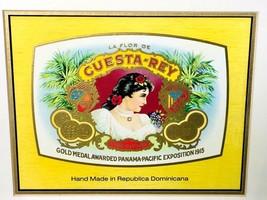 La Flor de Cuesta-Rey Framed Label Republica Dominicana - Cigar Box Label Art - $110.00
