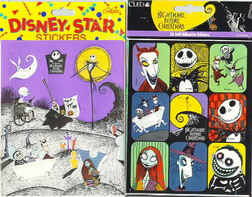 Nightmare Before Christmas 72 stickers