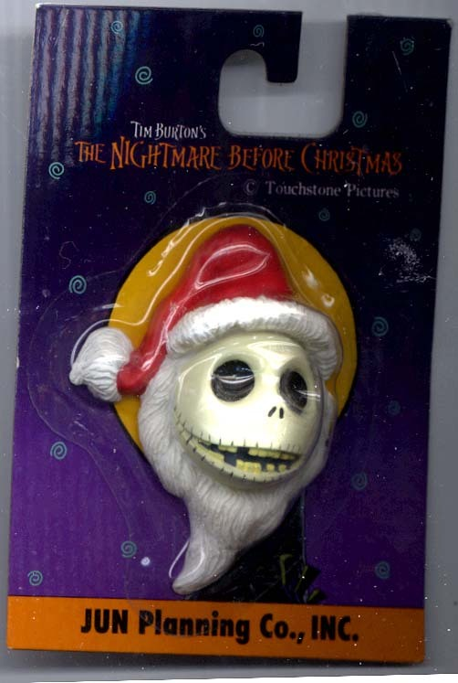 Nightmare Before Christmas Jack Santa Magnet Mint on Card