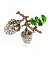 SKZKK Pine Cone Brooch Pins,Fashion Crystal Enamel for Women Dress - $16.97