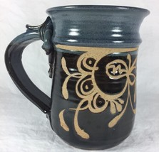 Studio Pottery Art Abstract Leaf Floral Glazed ... - $39.38