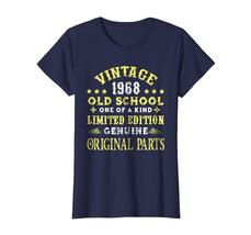 Dad Shirts -  Vintage Old School 1968 50th Years Old 50 Birthday Shirt Wowen image 4