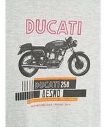 DUCATI MOTORCYCLES 250 Desmo Gray Graphic Shop Gear T-shirt Ajax Canada XL - $19.99