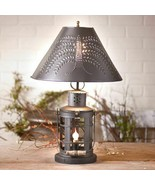 INNKEEPER'S Black Tin table lamp w/ WILLOW shade - $134.99