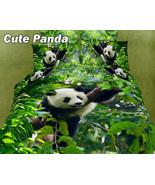 Dolce Mela - Cute Panda 100% Cotton 6PC Queen Size Luxury Duvet Cover Set - $167.99