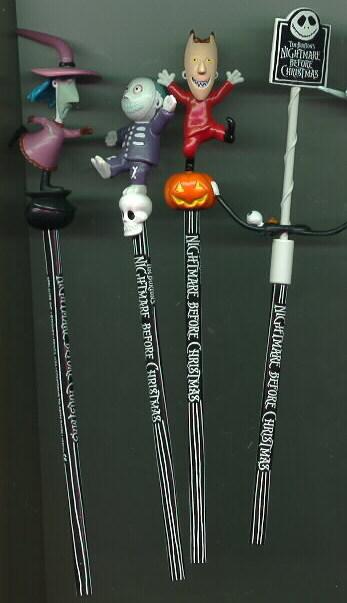 Nightmare Before Christmas set of 4 Pencils
