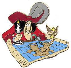 Peter Pan Tinkerbell & Captain Hook DLR Moment Pin/Pins
