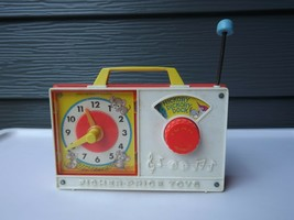 1971 Vintage Fisher Price #107 Wind Up Hickory Dickory Dock Clock Radio - $13.99