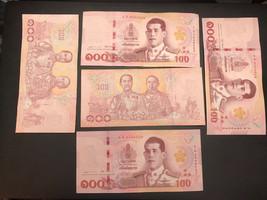 500 Thai Baht (5 x 100 circulated bank notes) - $52.38