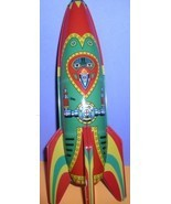 Rocket Ship Mars Patrol-2 Friction Powered Tin toy - $59.99