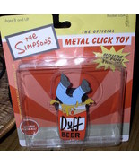 Simpsons Duff Can Homer Tin clicker Toy Mint On Card - $12.46