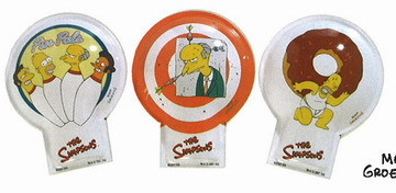 Simpsons Homer and Friends set of 3 tin clickers