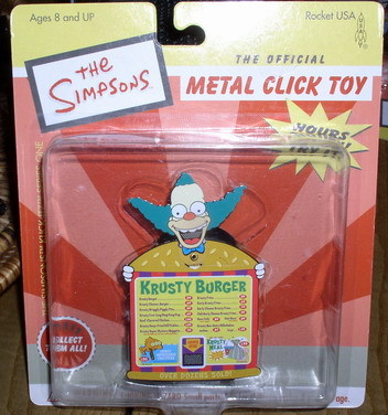 Simpsons Krusty Burger Tin clicker Toy MOC