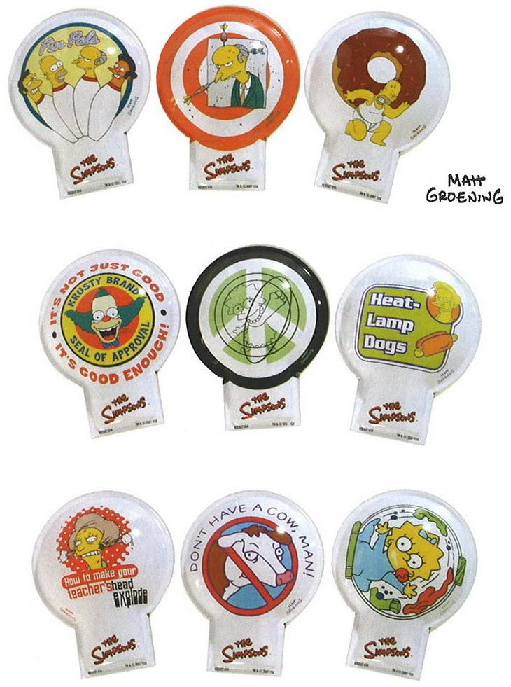 Simpsons  Krusty the clown set of 9 Tin clicker Toys