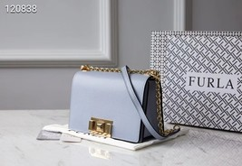 Genuine FURLA Bag MIMI mini Female Cross body Bag Light Blue - $239.00
