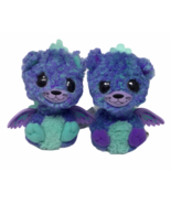 Hatchimal Interactive 2 Teal Purple Twin Peacats Spin Masters WORK Toy - $19.79