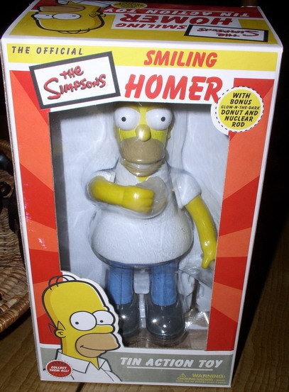 Simpsons Smiling Homer Tin Wind Up Action Toy
