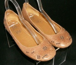Nine West 'Coby' Vintage America Collection brown leather studded flats ... - $23.95
