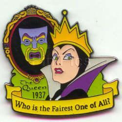 Snow White & 7 Seven Dwarfs-Evil Queen dated 1937 Pin