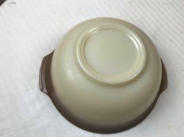 Glasbake Vintage brown and tan speckled Nesting Cinderella bowl image 3
