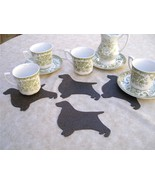 Dog shaped coasters set of 4 Limited edition English springer spaniel - $7.00