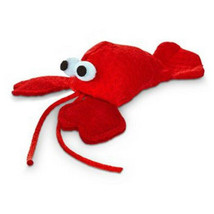 """Leaps & Bounds Lobster with Catnip Cat Toy, 4.5"""" L X 2"""" W - $12.86"""