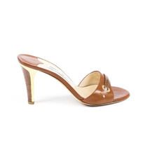 Jimmy Choo Embossed Snakeskin Leather Slide Sandals SZ 39 - $105.00