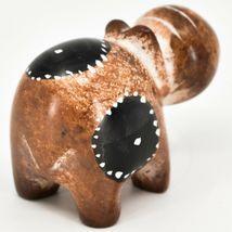 Crafts Caravan Soapstone Speckled Brown Hippopotamus Hippo Figurine Made Kenya image 4