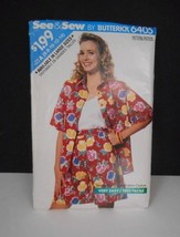 New~Vintage 1988~See & Sew/Butterick #6405~Sz 6-14~Shorts/Blouse/Tank Pattern - $5.95
