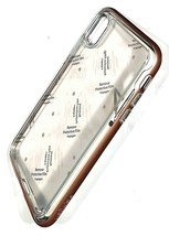 Spigen Neo Hybrid Crystal Case for For IPhone X /XS clear with Blush Gold bumper - $8.91