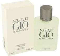 Acqua Di Gio Cologne  By Giorgio Armani for Men 3.3 oz Eau De Toilette S... - $79.40
